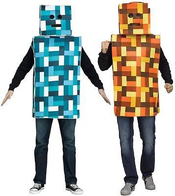 Herren Damen Pixel Roboter Computerspiel Lustig Kostüm Kleid - Computer Spiele Kostüm
