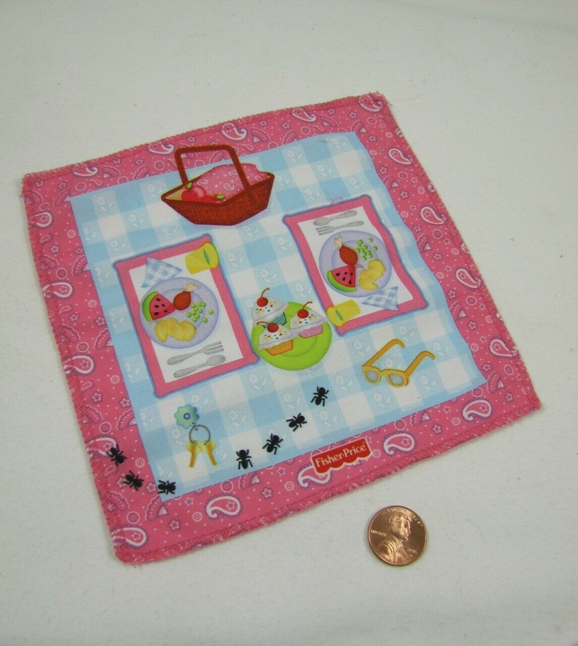New FISHER PRICE Loving Family CAMPING PICNIC BLANKET for OU