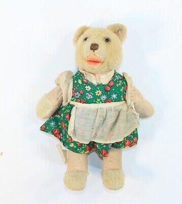 """VTG Steiff Stuffed Teddy Bear Toy Doll US Zone Germany Tag 9"""""""