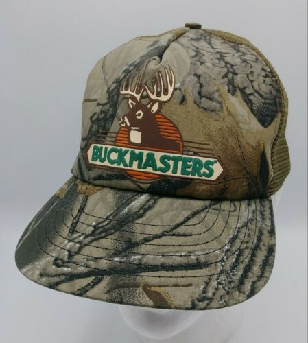 Vintage Buckmasters Hunting Camouflage Snapback Trucker Hat