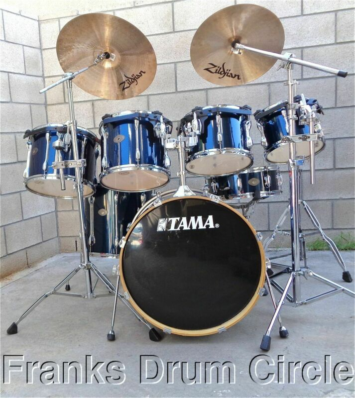 Tama Rockstar Blue 7pc Drum Set w/ Zildjian Cymbals & Hardware