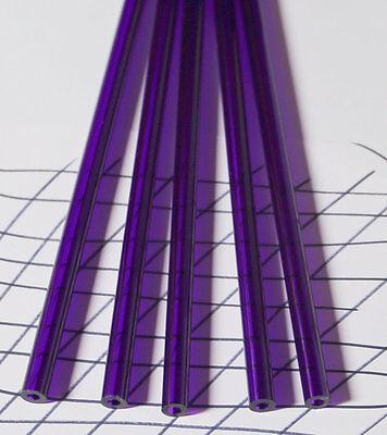 5 Clear Purple Acrylic Plexiglass Lucite Tubes 12 Od 14 Id X 12 Inch Long