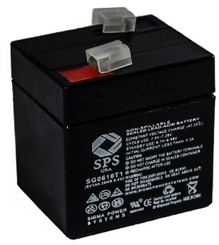 SPS Brand 6V 1 Ah (Terminal T1) Replacement battery for Coleman FP626 (1 PACK)