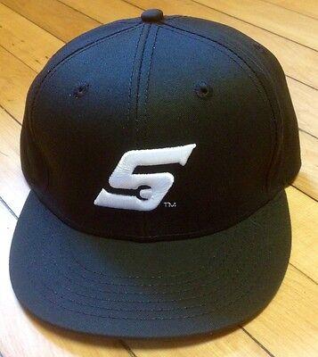 Flat Bill Baseball - *NEW* Snap On Tools FLAT BILL Black baseball Hat/Cap WHITE Embroidered S Logo