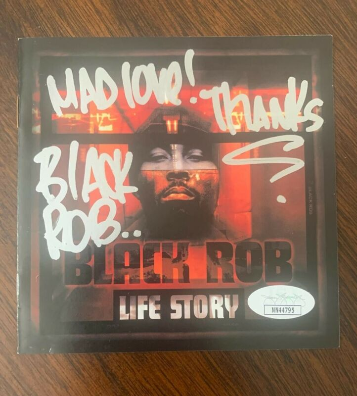 Black Rob  signed autographed  Life Store RARE cd cover only rapper jsa nn44795