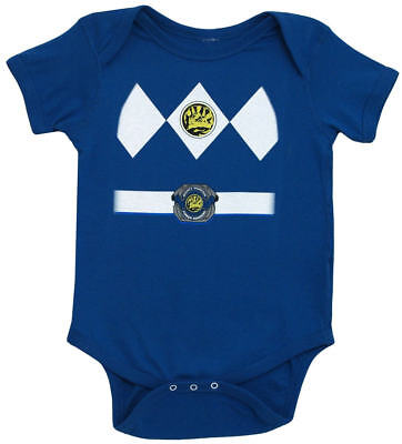 Infant Baby Mighty Morphin Power Rangers Blue Ranger Costume Romper (Infant Power Ranger Costume)