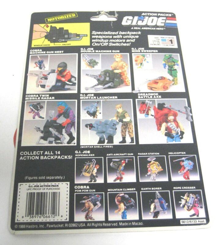 GI Joe Weapon Motorized Action Pack Cardback 1987