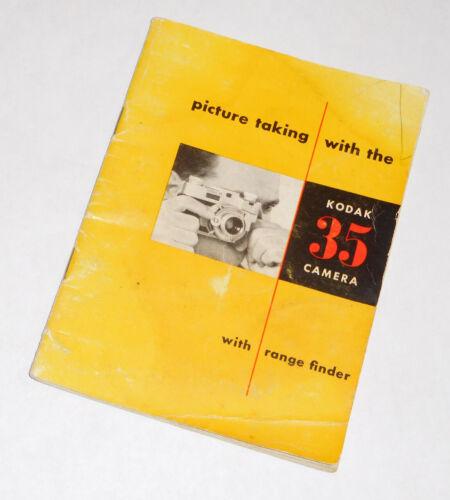Kodak 35 (With Rangefinder) Camera Manual...FREE SHIPPING