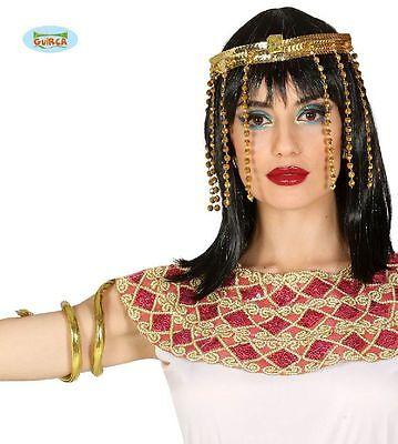 Kopfschmuck Cleopatra 2 teilig Kopf,- und Armschmuck goldfarben - Kostüm Schmuck Und Accessoires