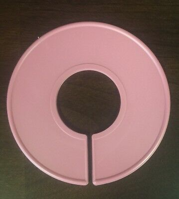 10 New Blank Pink Plastic Clothing Size Dividers Rack Ring Closet Divider