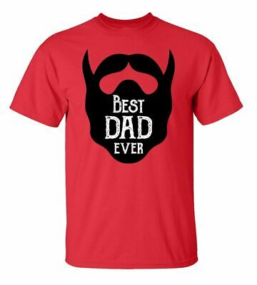 Father's Day Best Dad Ever Beard Adult Short Sleeve