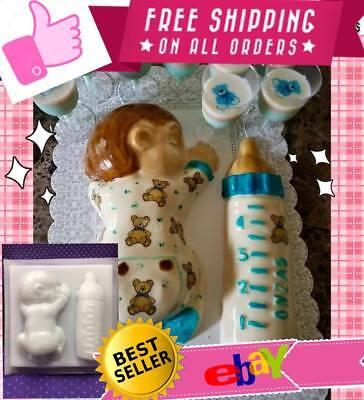 Jello mold/bebé dormido con transfer de ositos