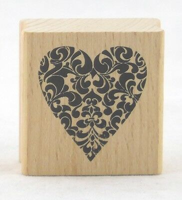 Decorative Heart Wood Mounted Rubber Stamp Stampendous NEW love valentines bride (Bride Rubber Stamp)