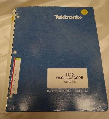 Tektronix 2213 Oscilloscope Service Instruction Manual