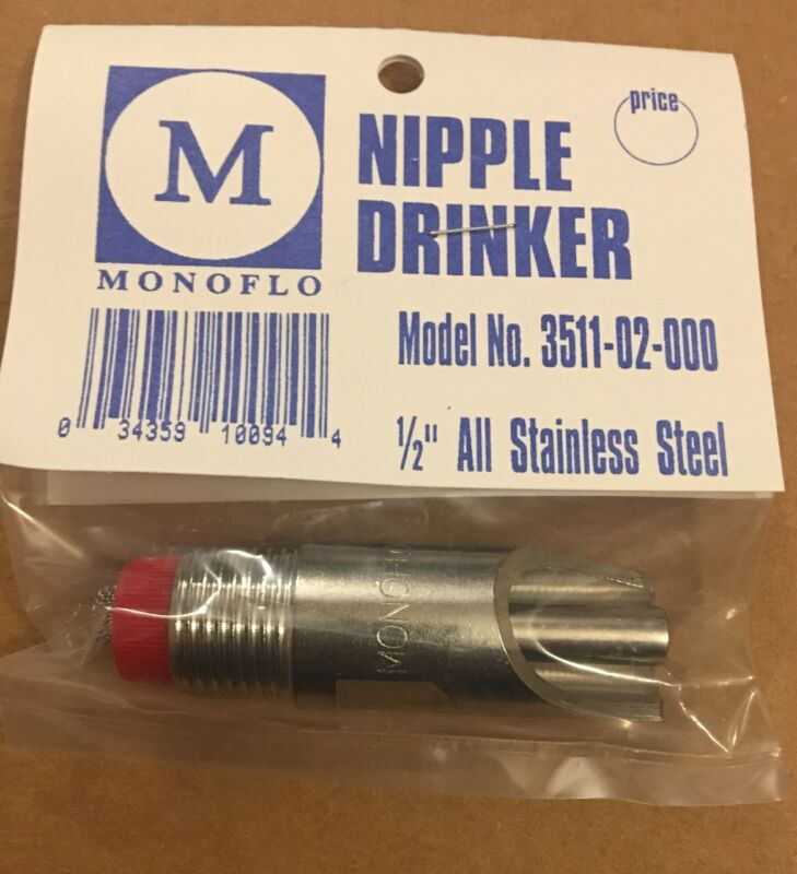"3"" New Hog Nipple Waterer Drinker Automatic MADE IN USA"