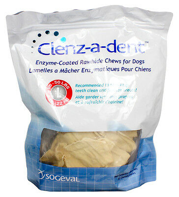 Clenz-A-Dent Rawhide Chews for Large Dogs 26-50 lbs - 30 Chews