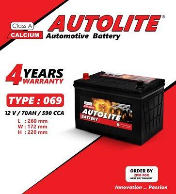 AUTOLITE TYPE 069 12V 70AH Heavy Duty Car Battery 4 year warranty