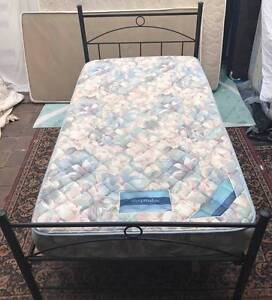 Excellent king single bed metal frame with Sleep Maker mattress Kingsbury Darebin Area Preview