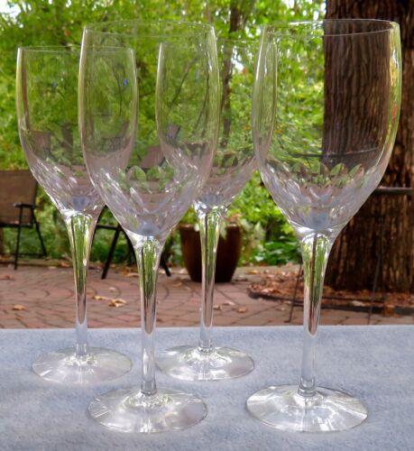Set of FOUR Orrefors Crystal Prelude Claret Wine Goblets