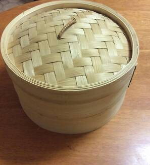 Two level bamboo steamer