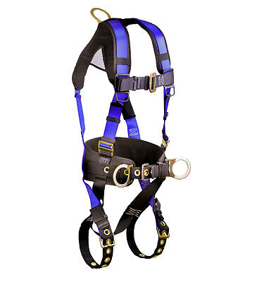 Falltech 7073b Construction Belted Harness With 3 D Rings Lxl