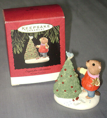 1994 Hallmark Ornament EAGER FOR CHRISTMAS Tender Touches
