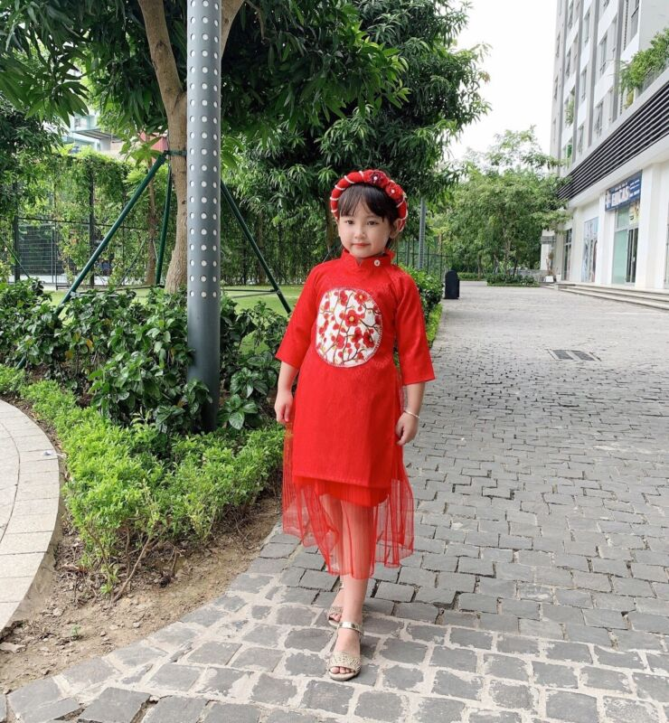Vietnamese Ao Dai for girls ( FREE GIFT WITH PURCHASE ) 3 Colors Available