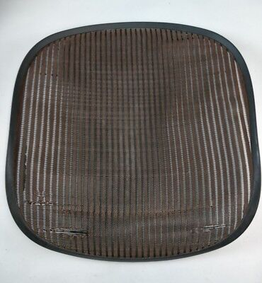 Herman Miller Aeron Chair Seat Mesh Brown Pellicle With Blemish Size A Small 32
