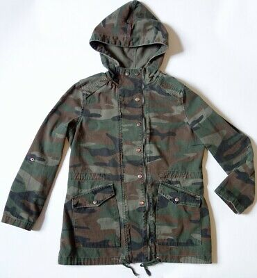 FOREVER 21 100% cotton camo hip-length military army jacket/coat womens M fit S