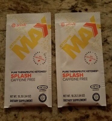 Pruvit Keto OS Max - 2 Splash Caffeine Free Ketones