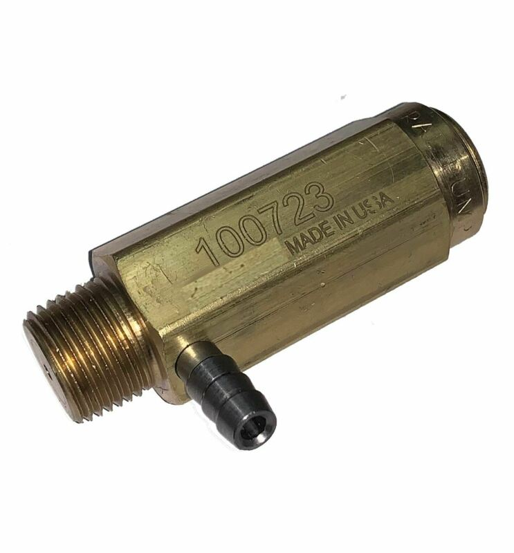 "General Pump 100723 Safety Relief Valve 6,000 PSI, 3/8"" MPT. 1/4"" Hose Barb"