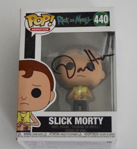 Dan Harmon Signed Rick and Morty SLICK MORTY 440 Funko Pop Figure Beckett COA