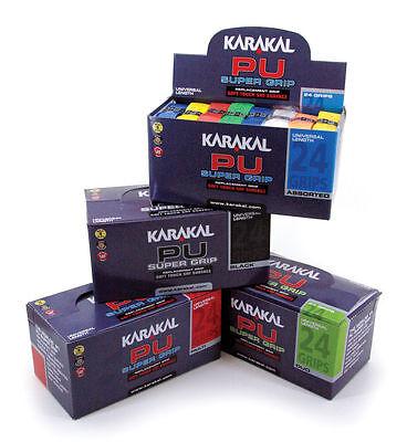 Karakal PU Replacement Grips Tennis Squash Badminton - Box of 24 Grips