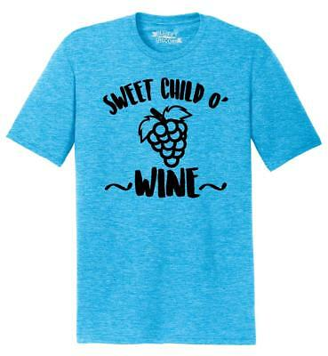 Mens Sweet Child O Wine Tri-Blend Tee Music Alcohol Party