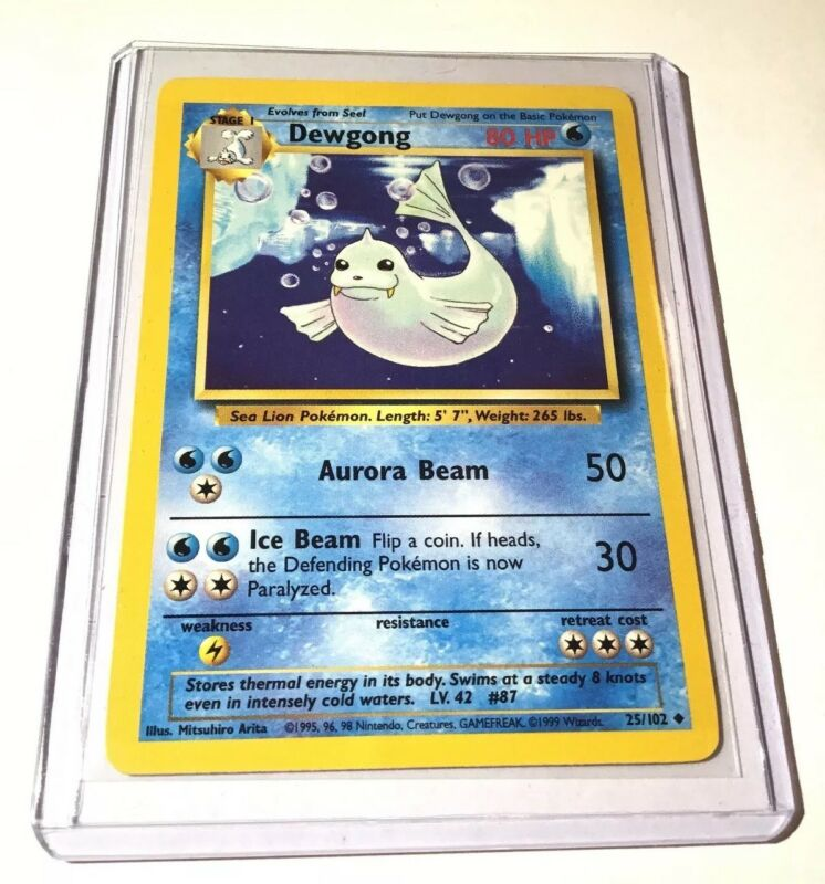 Light Dewgong 45//105 Played Uncommon Pokémon Vintage Card. Fast Shipping
