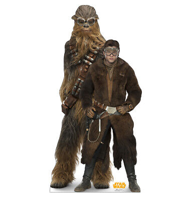 SOLO - STAR WARS MOVIE - HAN & CHEWBACCA - LIFE SIZE STANDUP/CUTOUT - 2665 (Life Size Chewbacca)