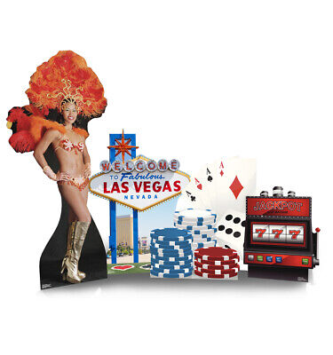 Vegas Theme Parties (Vegas Party Theme Set Lifesize Cardboard Cutout Party Decoration Party)