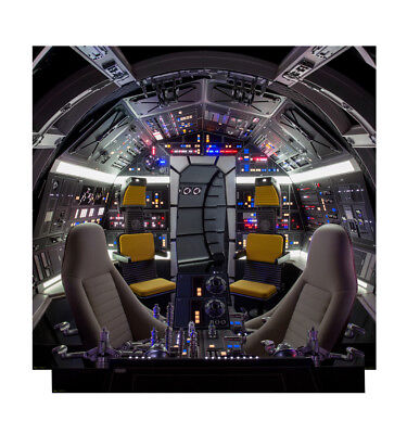 MILLENNIUM FALCON COCKPIT STAR WARS LIFESIZE CARDBOARD STANDUP STANDEE CUTOUT - Star Wars Life Size Cutouts