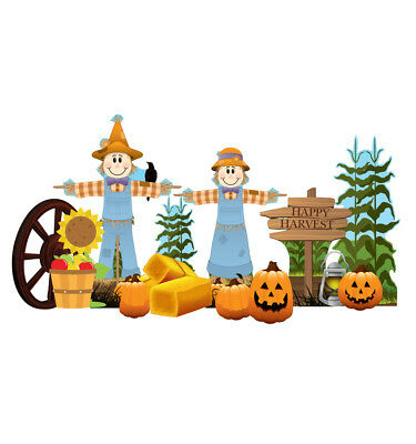 FALL HARVEST - YARD SIGN SET - BRAND NEW - OUTDOOR PLASTIC DECORATION 2630 - Make Outdoor Halloween Decorations