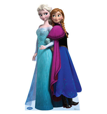 ELSA AND ANNA-DISNEY FROZEN- LIFE SIZE STAND UP FIGURE KIDS DECOR GIRLS - Disney Life Sized Stand