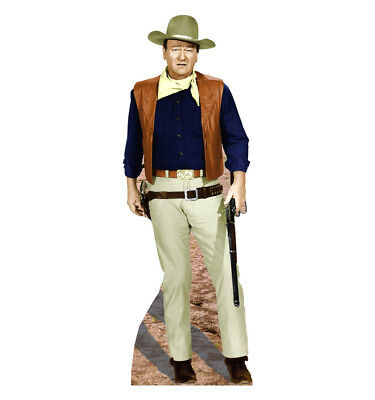 JOHN WAYNE LIFE SIZE STAND UP FIGURE THE GRIT WALL DECOR COWBOY WESTERN - John Wayne Stand Up