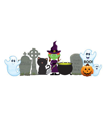 WITCH & GHOSTS - HALLOWEEN - YARD SIGN SET - BRAND NEW OUTDOOR DECORATION 2635 - Make Outdoor Halloween Decorations