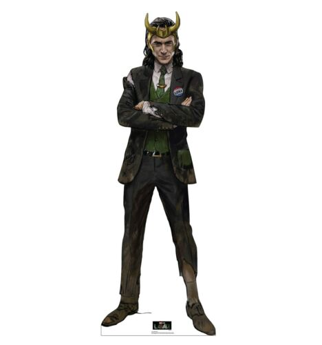 LOKI WITH HORNS - MARVEL MOVIE - LIFE SIZE STANDUP/CUTOUT - BRAND NEW 3667