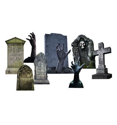TOMBSTONES HALLOWEEN - YARD SIGN SET - BRAND NEW OUTDOOR PLASTIC DECORATION 2640 (Outdoor Halloween Decorations)