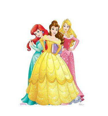 Disney Princess Group Ariel, Belle, Aurora Cardboard Cutout Party Decoration