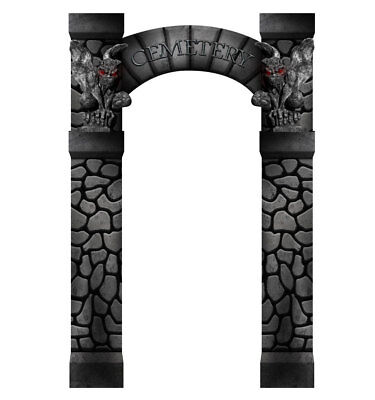 CEMETERY ENTRANCE - HALLOWEEN PARTY - LIFE SIZE STANDUP/CUTOUT BRAND NEW - - Cemetery Halloween Party