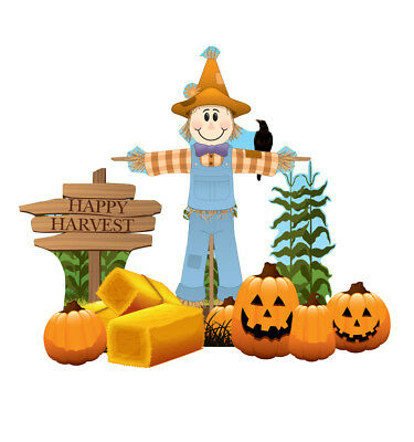 SCARECROW - HALLOWEEN - YARD SIGN SET - BRAND NEW OUTDOOR DECORATION 2633 - Make Outdoor Halloween Decorations
