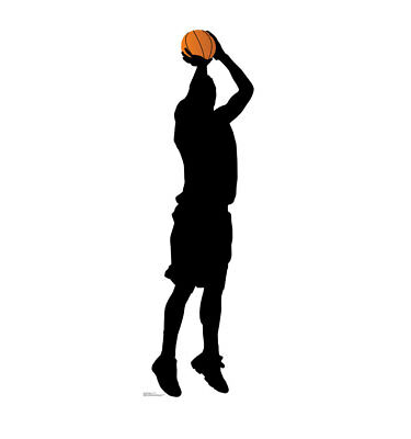 Basketball Player Shooting Lifesize Cardboard Standup Standee Cutout 2399 - Basketball Cardboard Cutouts
