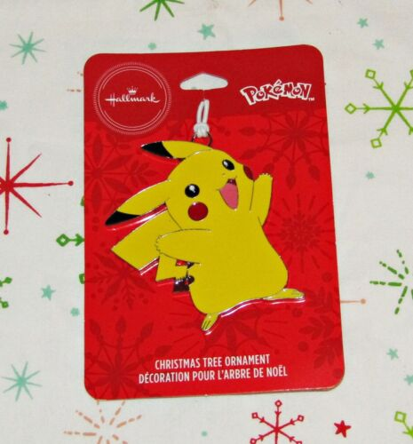 Hallmark Pokemon Pikachu Ornament Christmas Flat Metal Collectible NEW