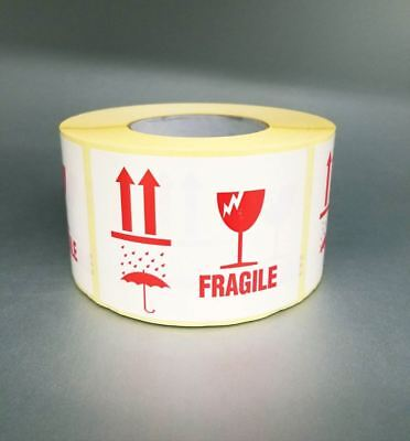 Fragile Shipping Self Adhesive Labels Large 110x80mm 1000pcsroll